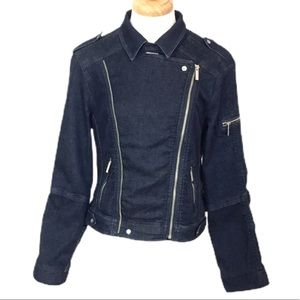 Kenneth Cole New York Denim Moto Jacket